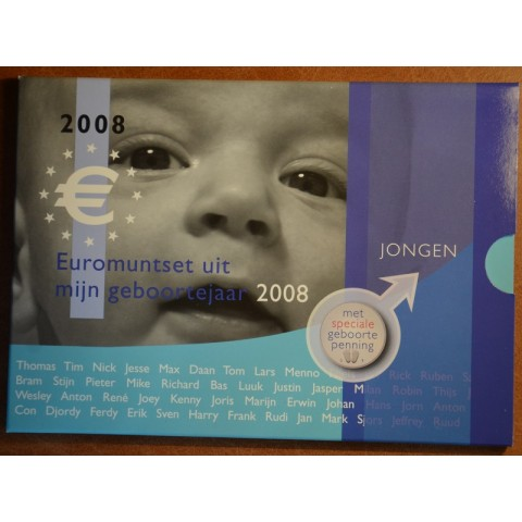Set of 8 coins Netherlands 2008 Baby set - Boy  (UNC)
