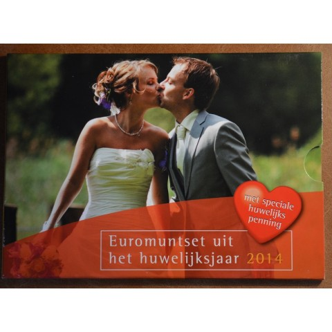 Set of 8 coins Netherlands 2014 Wedding set (BU)