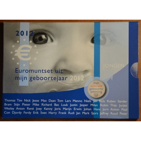 Set of 8 coins Netherlands 2012 Baby set - Boy  (UNC)
