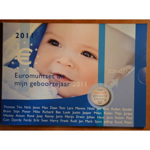 Sada 8 mincí Holandsko 2011 Baby set - Chlapec  (UNC)