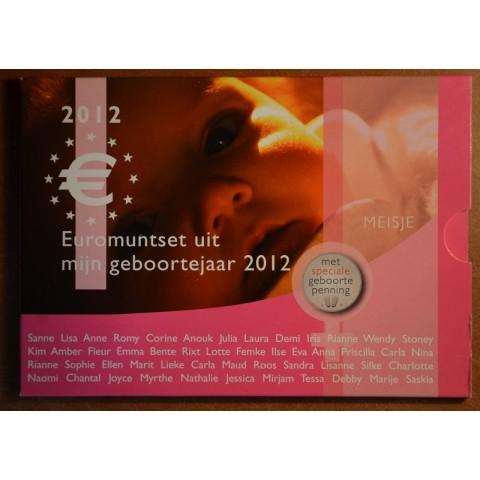 Sada 8 mincí Holandsko 2012 Baby set - Dievčatko (UNC)