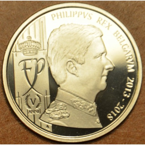 Pamätná medaila Belgicko 2018 - 5. výročie korunovania Filipa