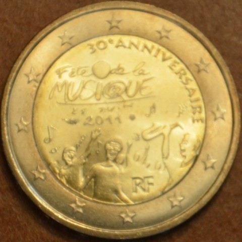 2 Euro France 2011 - 30th anniversary of the Day of Music (UNC)