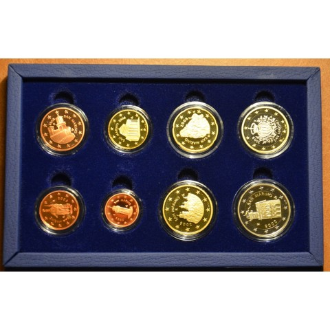 Set of 8 Euro coins San Marino 2008 (Proof)
