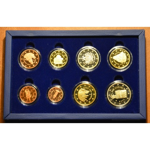 Set of 8 Euro coins San Marino 2009 (Proof)