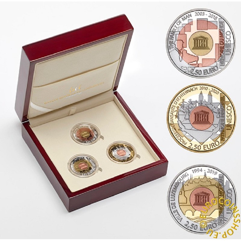 2,5 Euro Luxembursko 2019 Unesco (Proof)