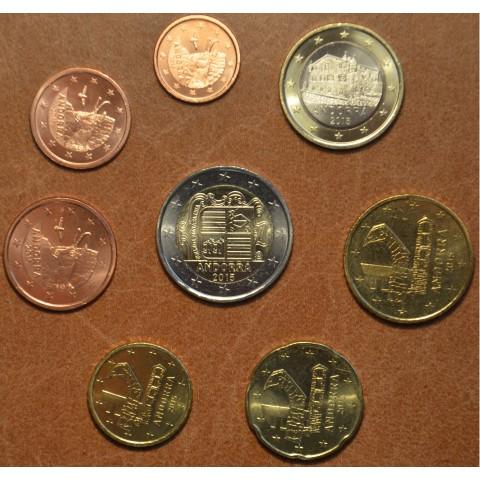 Set of 8 Euro coins Andorra 2015 (UNC)