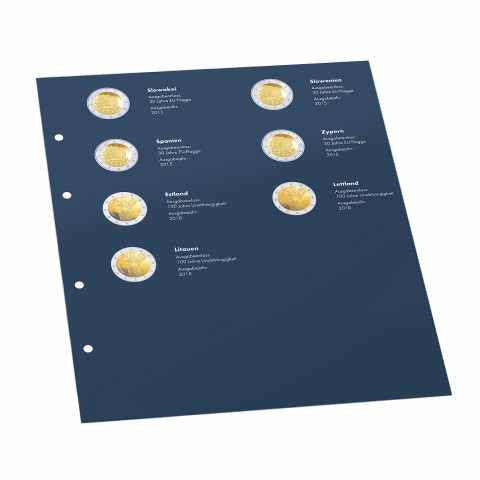 2 Euro 2018 page into Leuchtturm OPTIMA albums