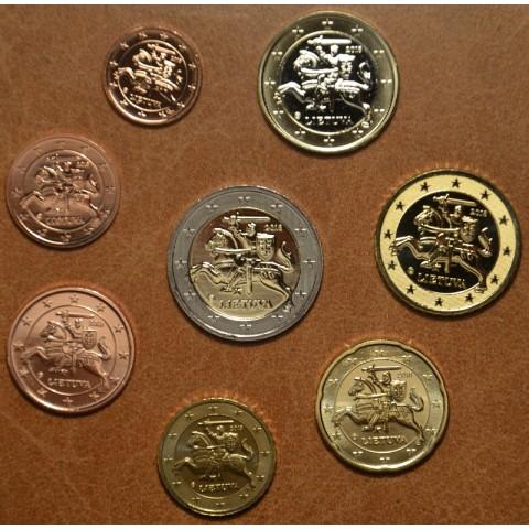 Set of 8 eurocoins Lithuania 2018 (UNC)