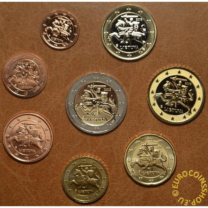 2 euro total 8 coins 3,88 euro RARE Belgium 2016 UNC coin set from 1 cent
