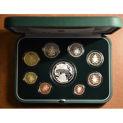 Official 8 coins set of Vatican 2018 + 20 Euro Ag coin (Proof)
