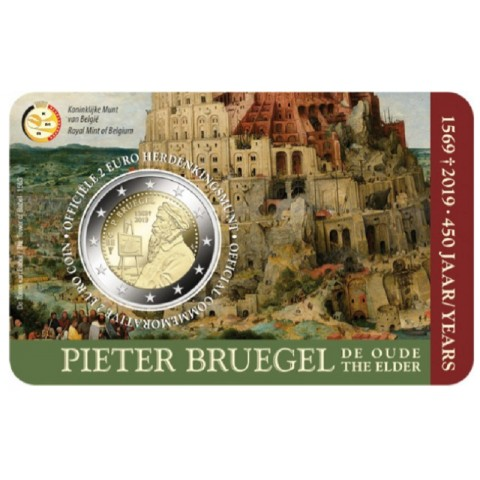 Presale 2 Euro Belgium 2019 -  Pieter Bruegel  (BU dutch side)