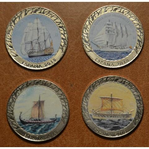 4 x 1,5 Euro Spain 2018 Historia de la Navegacion serie I. (BU)