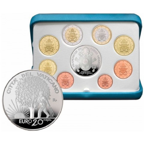 Official 8 coins set of Vatican 2019 + 20 Euro Ag coin (Proof)