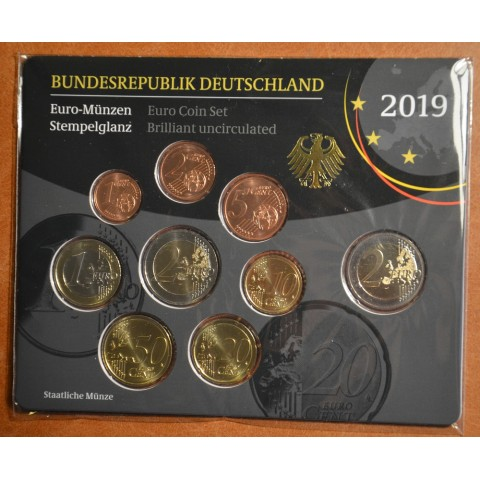 """Set of 9 coins Germany 2019 """"A"""" (UNC)"""
