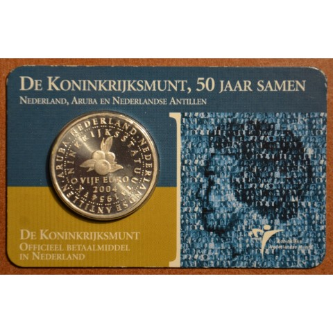 5 Euro Netherlands 2004 - 50 years Statute of the Kingdom of Netherlands  (BU card)