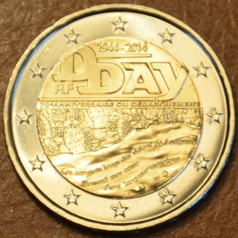 2 Euro France 2014 - 70th Anniversary of the D-Day (UNC)