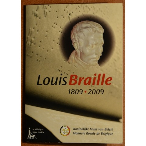 2 Euro Belgium 2009 - 200th Anniversary of birth of Louis Braille (BU card)