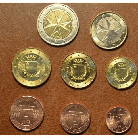 Set of 8 coins Malta 2008 (UNC)
