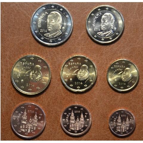 Set of 8 coins Spain 2014 (UNC)