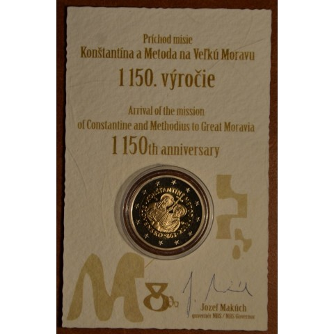 2 Euro Slovakia 2013 - 1150th Anniversary of Cyril and Metod (Proof)