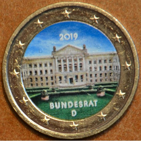 "2 Euro Germany ""J"" 2019 - Bundesrat (colored UNC)"
