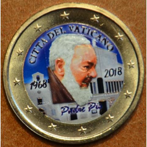 2 Euro Vatican 2018 - Padre Pio III. (colored UNC)