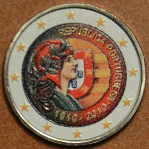 2 Euro Portugal 2010 - 100th anniversary of the Portugal Republic III. (colored UNC)
