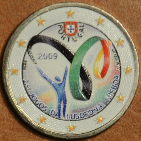 2 Euro Portugal 2009 - Lusophony Games IV. (colored UNC)