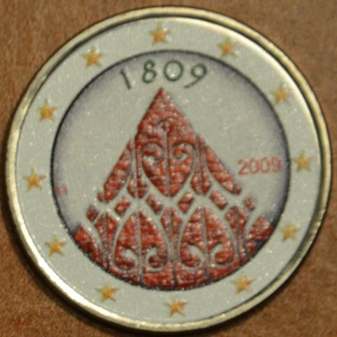 2 Euro Finland 2009 - 200 years of Finnish autonomy III.  (colored UNC)