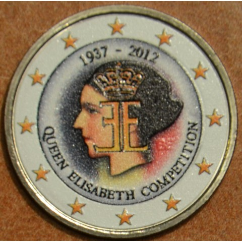 2 Euro Belgium 2012 - The 75th anniversary of the Queen Elisabeth Competition IV. (UNC colored)