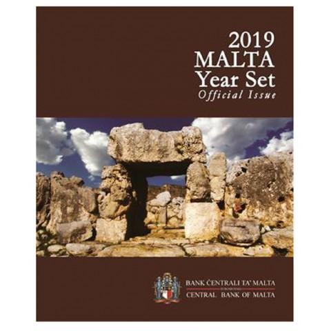 "Set of 9 Euro coins - Malta 2019 incl. commemorative 2 Euro with mintmark ""F"" (BU)"