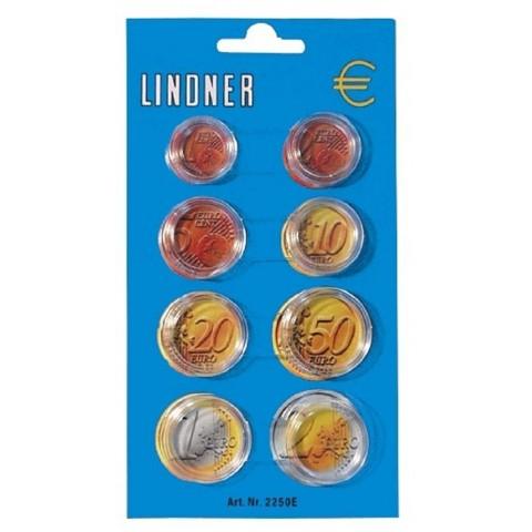 Lindner kapsule pre Euro sadu (8 mincí)