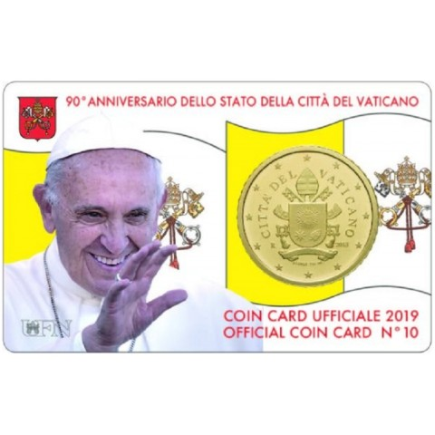 50 cent Vatican 2019 official coin card No. 10 (BU)