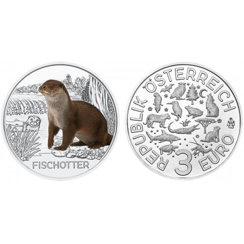 3 Euro Austria 2019 - The otter (UNC)