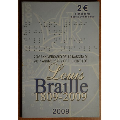 2 Euro Italy 2009 - 200th Anniversary of birth of Louis Braille (BU)