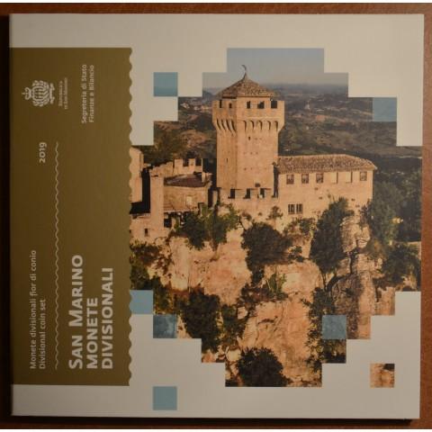Set of 8 eurocoins San Marino 2019 - New design (BU)