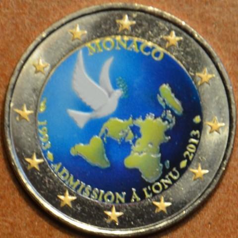 2 Euro Monaco 2013 - 20th Anniversary of UN Membership II. (colored UNC)