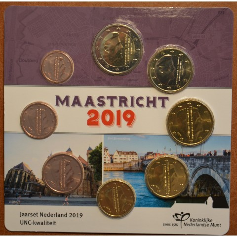 Official set of 8 coins of the Netherlands 2019 - Maastricht  (UNC)