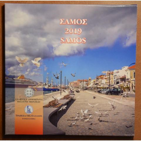 Set of 8 eurocoins Greece 2019 Samos (BU)