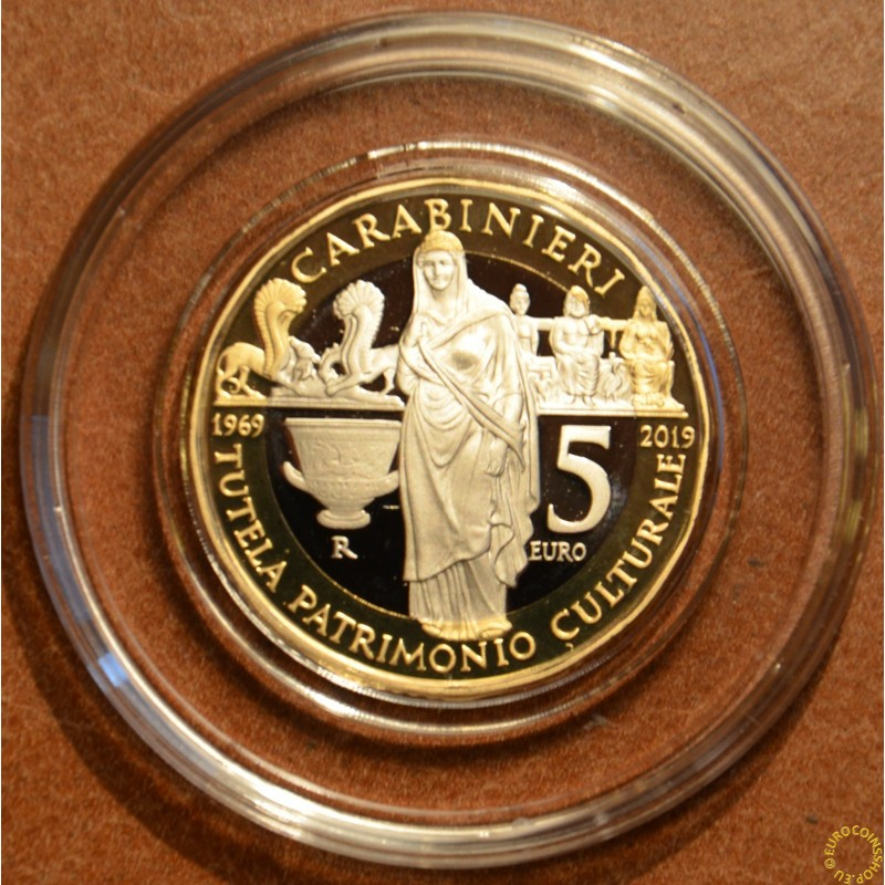 5 Euro Italy 2019 - 50 years of of the Carabinieri for the Protection of Cultural Heritage (Proof)