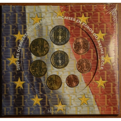 Official set of 8 French coins 2000 (BU)