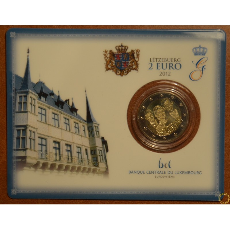 2 Euro Luxembourg 2012 - Royal Wedding  (BU card)