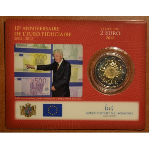 2 Euro Luxembourg 2012 - Ten years of Euro  (BU card)