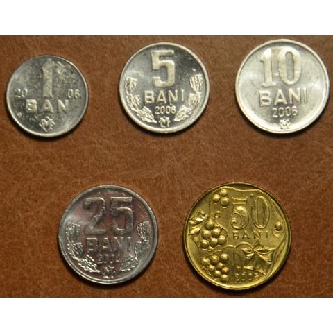Moldova 5 coins 2004-2008 (UNC)