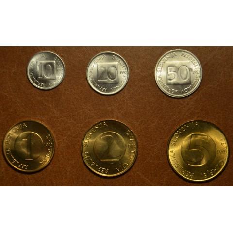 Slovenia 6 coins 1992-2004 (UNC)