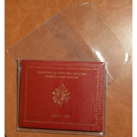 Plastové púzdro na sadu euromincí z Vatikánu