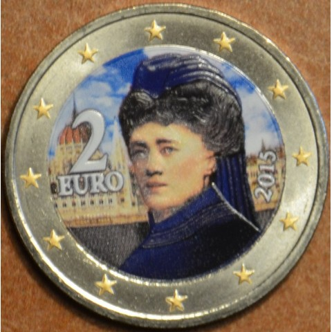 2 Euro Austria 2015 - Bertha von Suttner II. (colored UNC)