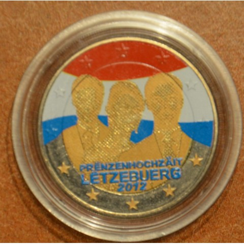 2 Euro Luxembourg 2012 - Royal Wedding IV. (colored UNC)