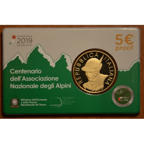 5 Euro Italy 2019 - Centenary of Alpine Association (Proof)